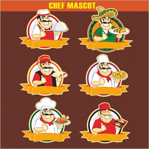 Personagem de mascote de chef