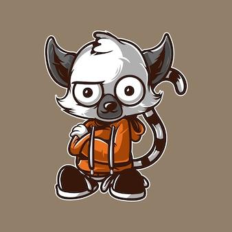 Personagem de mascote de lêmures