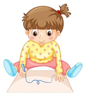 Personagem de menina pequena