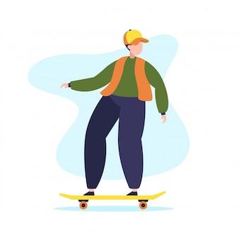 Personagem de menino skatista