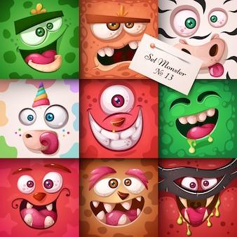Personagem de monstro engraçado, fofo. ilustração de halloween. para imprimir em camisetas