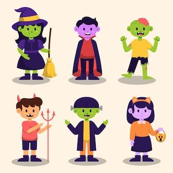 Personagem de monstro feliz do dia das bruxas para romance e história