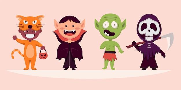 Personagem de monstro feliz do dia das bruxas para romance, história e arte