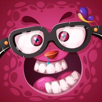 Personagem de monstro louco fofo engraçado