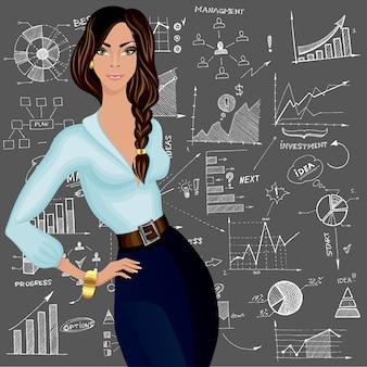 Personagem de mulher de negócios