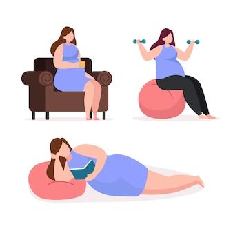 Personagem de mulher gravidez
