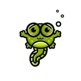 Personagem de natação bonito girino