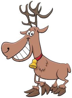 Personagem de natal de rena de desenho animado
