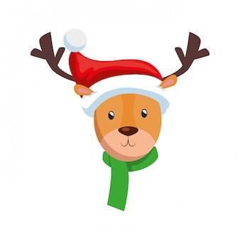 Personagem de natal rena bonito