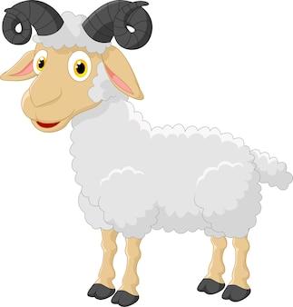 Personagem de ovelhas bonito dos desenhos animados