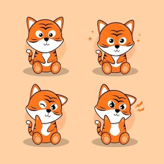 Personagem de pequeno tigre