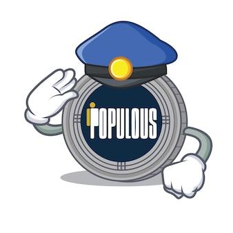 Personagem de personagem de moeda populacional da polícia