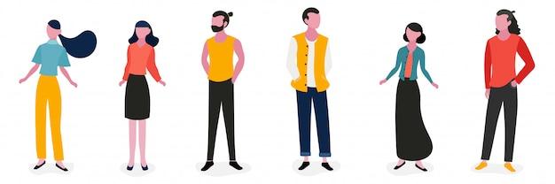 Personagem de pessoas de estilo de vida design ilustração