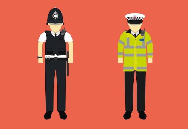Personagem de policial do reino unido