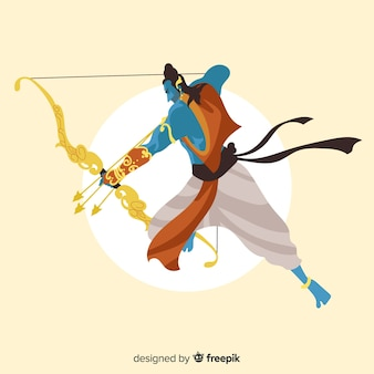 Personagem de rama com seta e arco