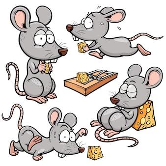 Personagem de rato dos desenhos animados