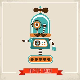 Personagem de robô hipster