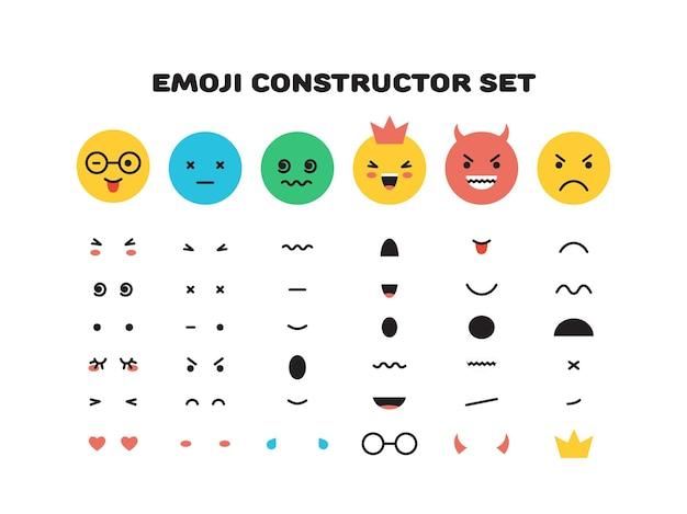 Personagem de rosto sorridente amarelo emoji para vetor de modelo de cenas isolado no branco