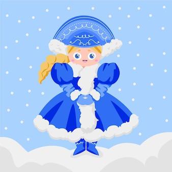 Personagem de solteira da neve