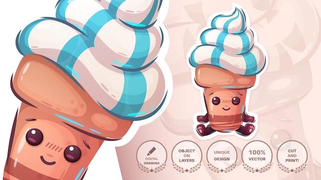 Personagem de sorvete fofa