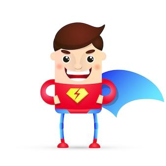 Personagem de super-herói de poder dos desenhos animados