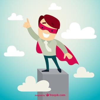 Personagem de super-heróis de negócios