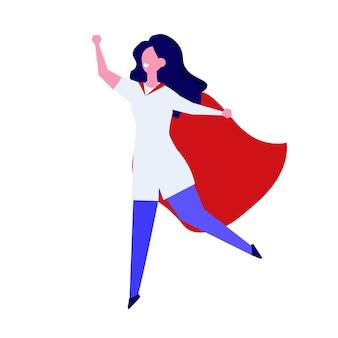 Personagem de super médico. ilustração profissional em grande estilo.