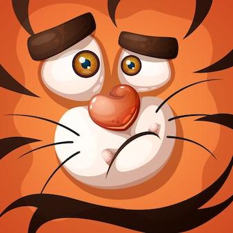 Personagem de tigre louco