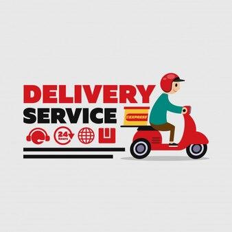 Personagem de trabalho de serviço de entrega