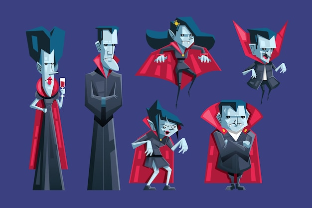 Personagem de vampiro do festival de halloween