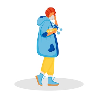 Personagem de vetor plana de espirros
