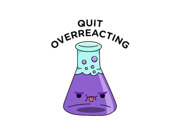 Personagem de vidro químico bonito laboratório