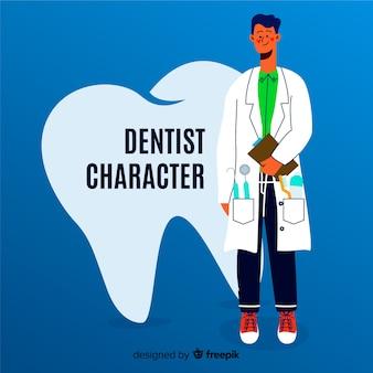 Personagem dental plana