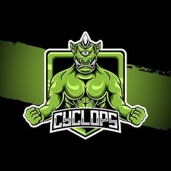 Personagem do ciclope da ilustração do logotipo esport