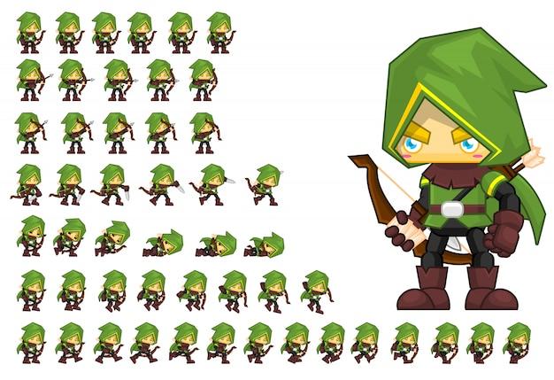Personagem do jogo verde arqueiro