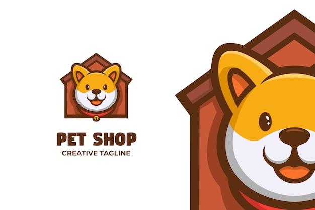 Personagem do logotipo da mascote do animal de estimação no pet shop care