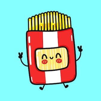 Personagem espaguete engraçado fofo