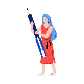 Personagem feminina do time scrum usando ilustração de desenvolvimento ágil