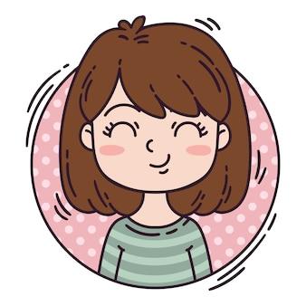 Personagem feminina em estilo cartoon