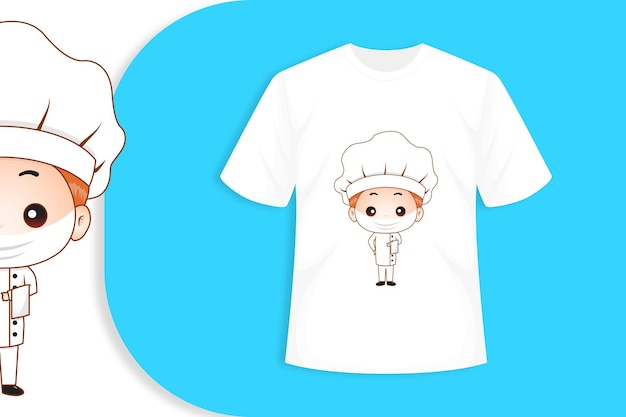 Personagem fofa com modelo de camiseta