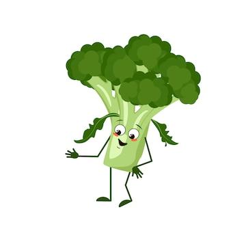 Personagem fofa de brócolis