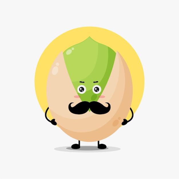 Personagem fofa de feijão com bigode