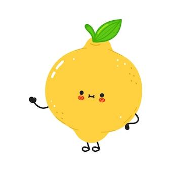Personagem fofa e engraçada de limão
