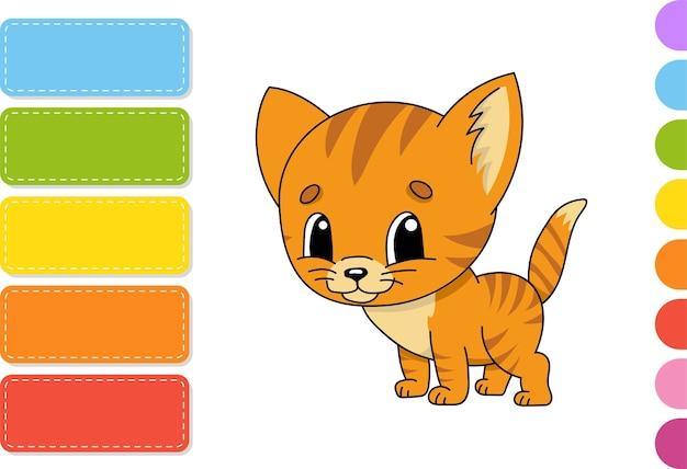 Personagem fofa. ilustração colorida do vetor.