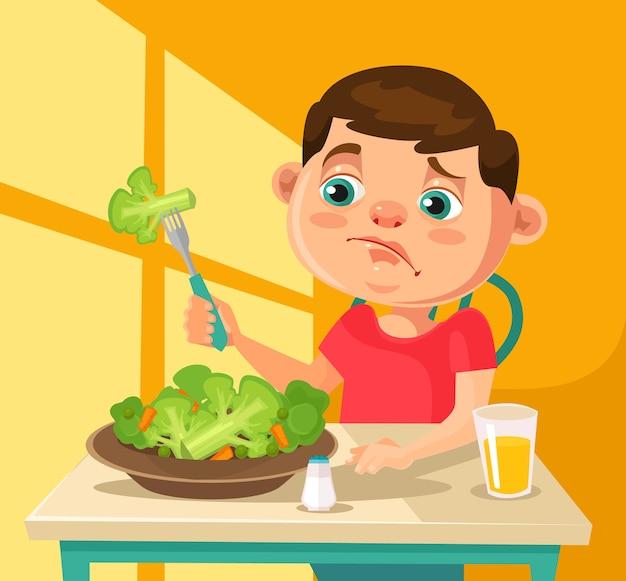 Personagem infantil não quer comer brócolis