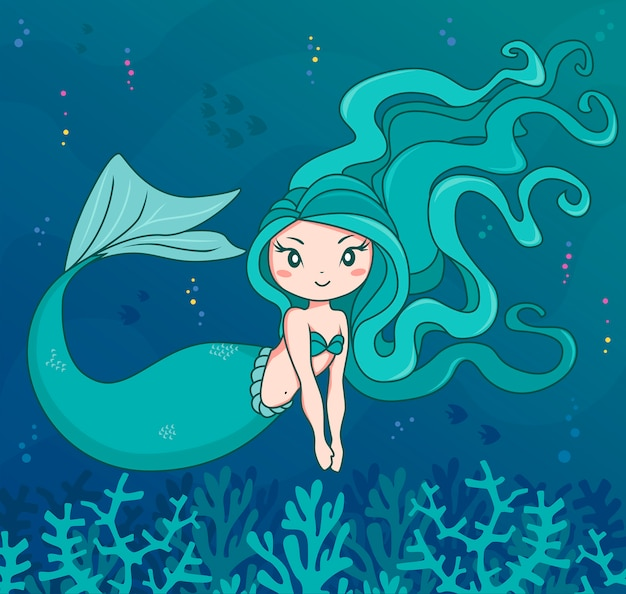 Personagem marinho sereia
