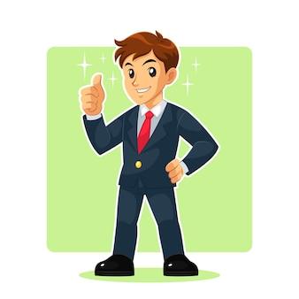 Personagem mascot de empresário