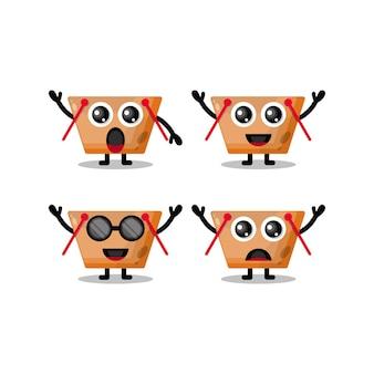Personagem mascote do carrinho de compras fofa