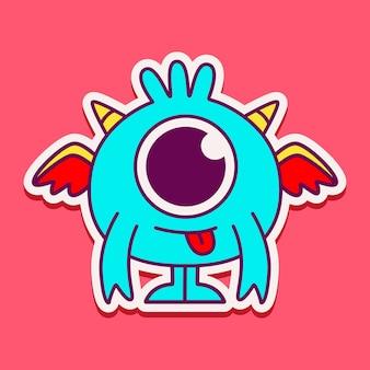 Personagem monstro fofo