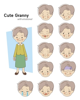 Personagem mulher idosa